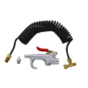 "AIR BLOW GUN KIT (DELUXE) w/12 HOSE, SNAP-IN ""T"" & EXTRA NOZZLE"