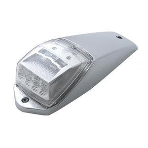 LED (17) CLEAR LENS-AMBER LIGHT RECT. REFLECTOR CAB LIGHT KIT, includes chrome plastic housing