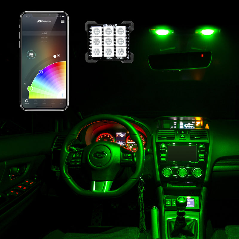 LED Interior Dome Light Bulb Kit - XKchrome Smartphone App Controlled