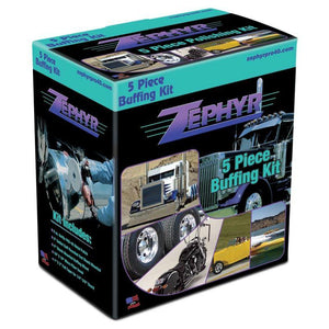 Zephyr 5 Piece Metal Polishing Kit, for drills