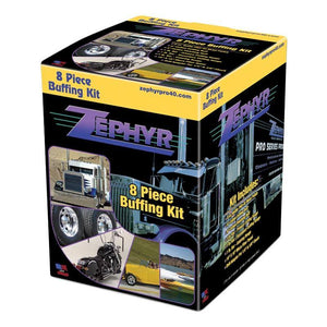 Zephyr Small Wheel Drill Polishing Kit.  Small wheels great for cars, motorbikes, utes (8 piece)