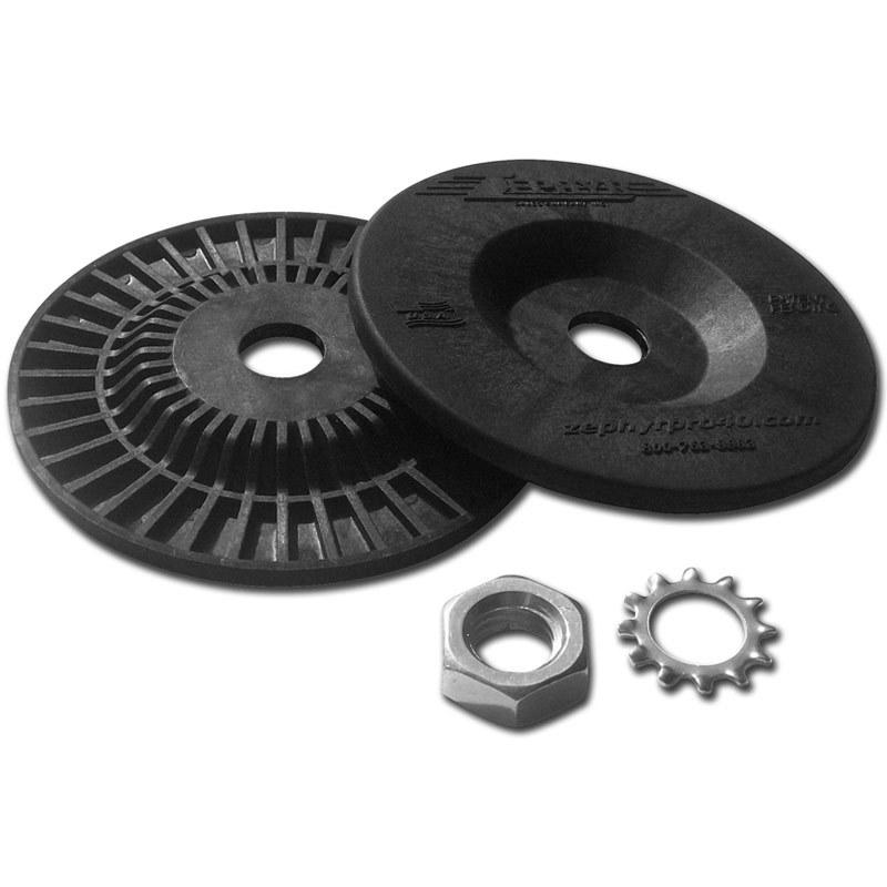 "Zephyr metal polishing AIRWAY BUFF SAFETY FLANGE KIT. MANDATORY FOR USE WITH 8"" & 10"" AIRWAYS"
