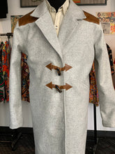 Load image into Gallery viewer, Heather gray Italian wool with leather