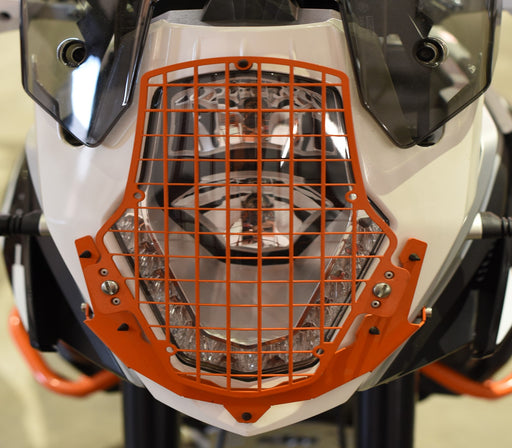 A080272 - KTM Head Light Guard - Mesh Type KTM Orange