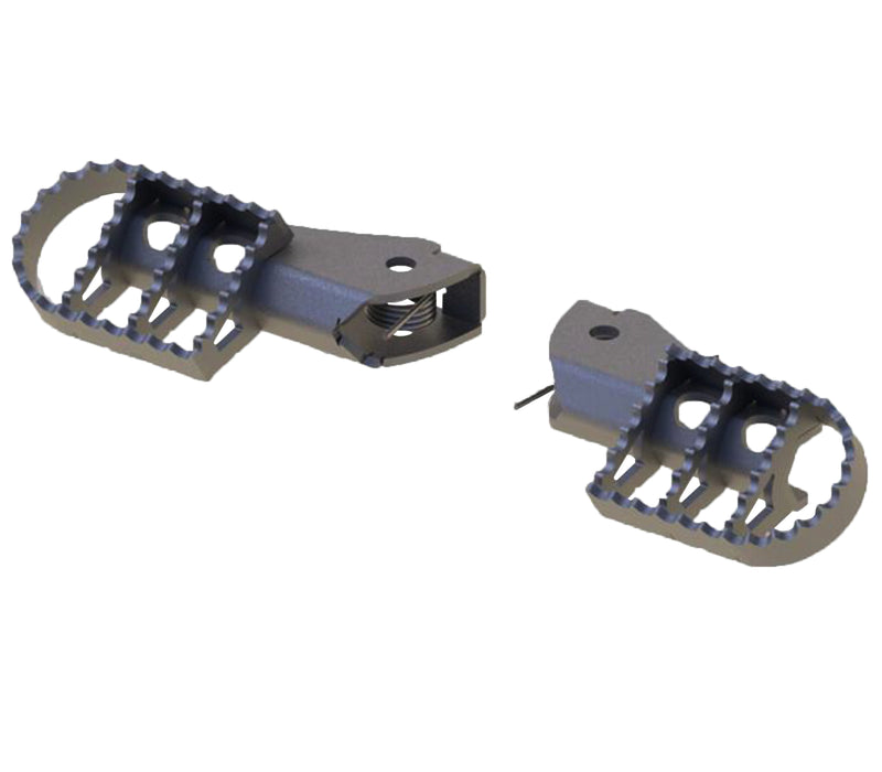 A090625 - BMW Wide Rider Foot Pegs (Pair) - Stainless