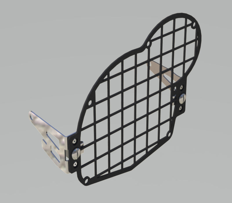 A090855 - BMW Head Light Guard - Black Grid Type