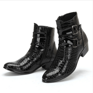 Men Ankle Fashion Pointed Toe Leather Casual Style Boots