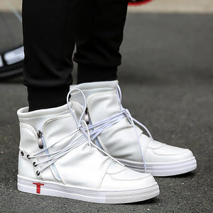 BYCBAC LACE UP HIGH TOP SNEAKERS