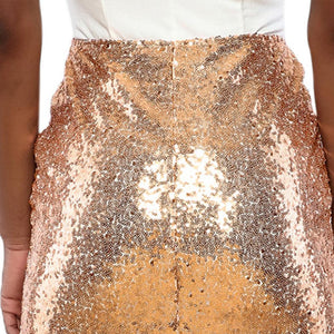 Sequin Zipper Slim Pencil Skirt