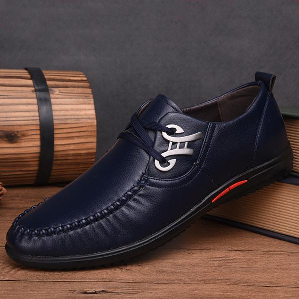 Men's  Genuine Leather male Soft Driving Shoes