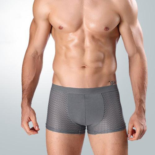 Men's ice mesh eye breathable elastic smooth soft underwear