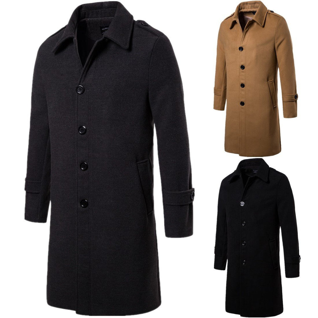 Doriry Men Long Fashion Coat