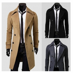 Men's Fashion Winter Long Trench Coat