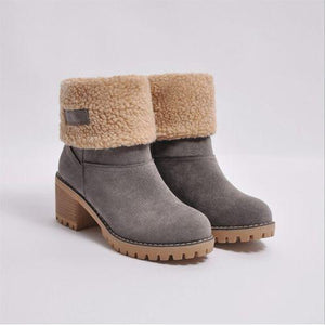 Autumn and Winter Women Suede Warm Casual Snow Boots