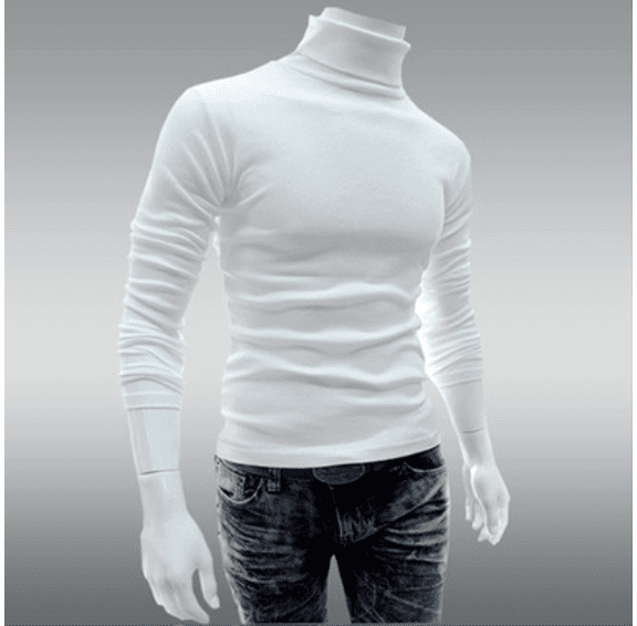 Men Fasion Hitz Mens Long Sleeve T-Shirt Turtleneck Shirt