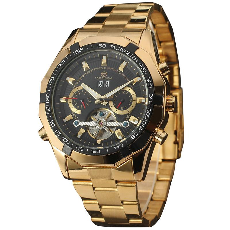 Men Mechanical Automatic Tourbillon Sports Wristwatches Watch