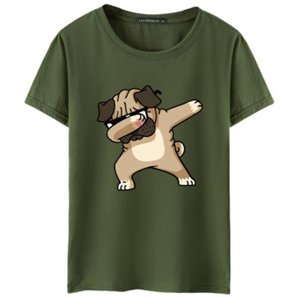 Men's T-shirts Fashion Animal Dog Print Hipster Funny t shirt