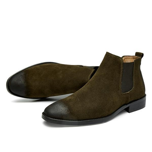 Leather Chelsea High Men's Boots