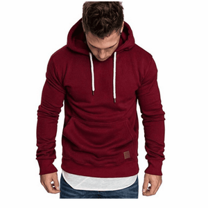 2018 New Men's Pure Color Outdoor Sports Hoodies & Sweatshirts, Sweater, Autumn Winter Jacket