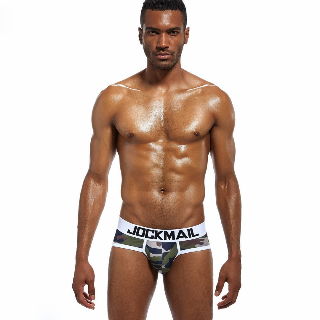 Underwear men Camouflage printed ice silk briefs