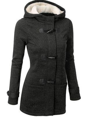 Winter Warm Womens Claw Clasp Wool Blended Classic Pea Coat Jacket
