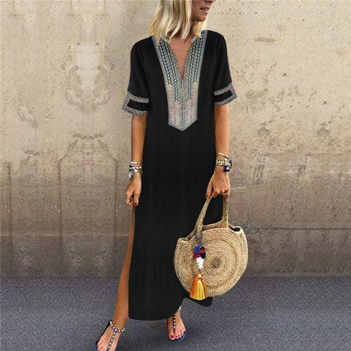 DORIRY Half Sleeve Long Dress