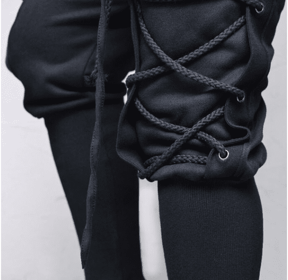 High Quality Rope Eyelet Baggy Sweatpants