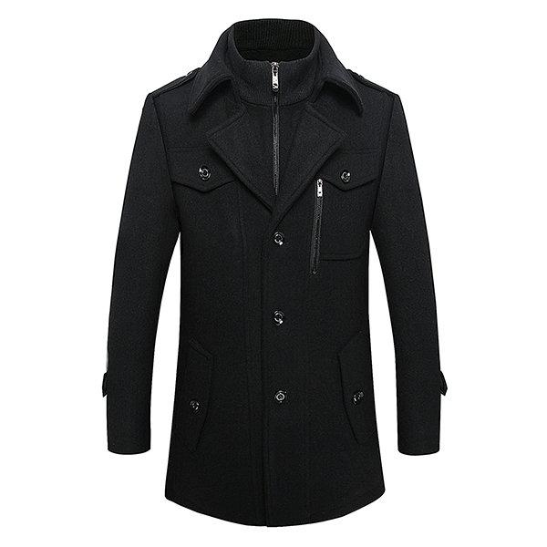 Driry Men Winter Thickened Warm Wool Coat