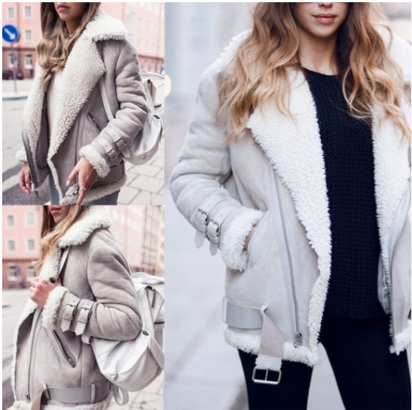 2018 Autumn Winter Women Fashion Warm Fur Coat