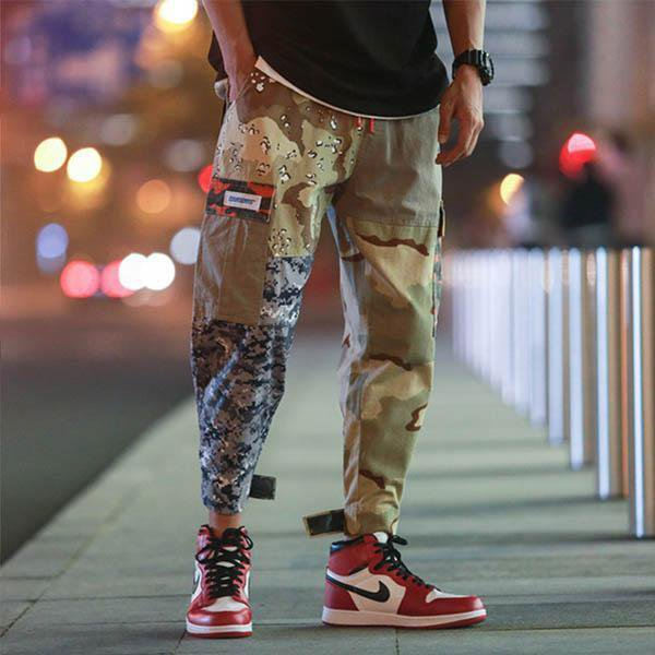 Patchwork Pocket Camouflage Pants