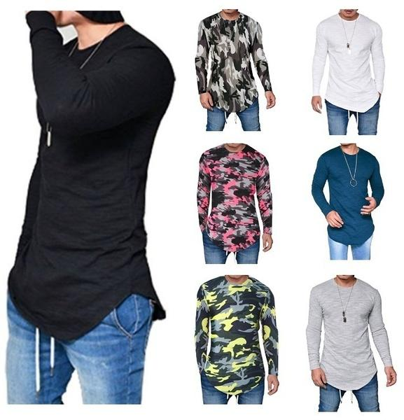 Men long Sleeve O-Neck Silm Fit T-shirt