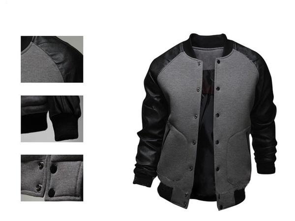 New Men's Leather Jacket