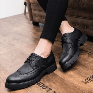 Oxfords Man Genuine Patent Leather Shoes