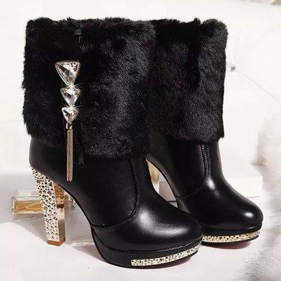 Womens Autumn Winter Warm Short Boots