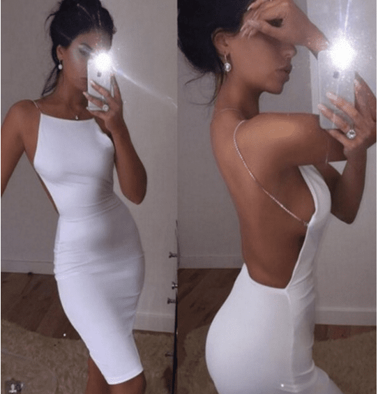 Sexy backless deep v neck night club dress summer women bodycon party bandage sun dress vestidos