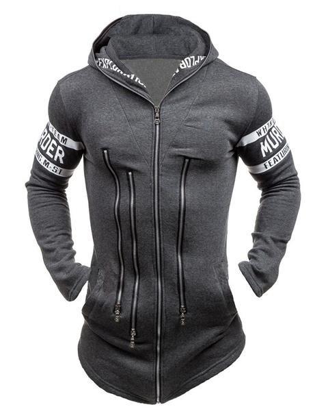 Men's Personality Coat Casual Fashion Hooded