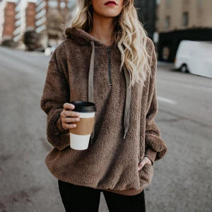Winter Womens Clothing Casual Loose Long Sleeve Sweater Pullover
