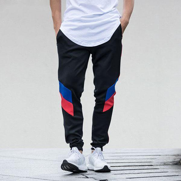 Color Block Patchwork Stripe Harem Pants