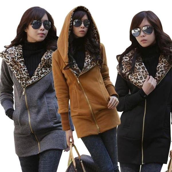 Women Fashion New Design Leopard Printed Hoodies