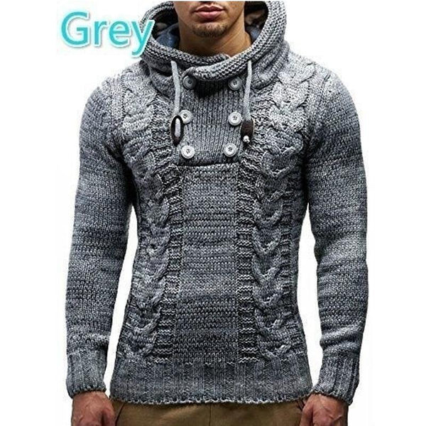 Men Sweater Coat Autumn Winter Knitted Cardigans Coat