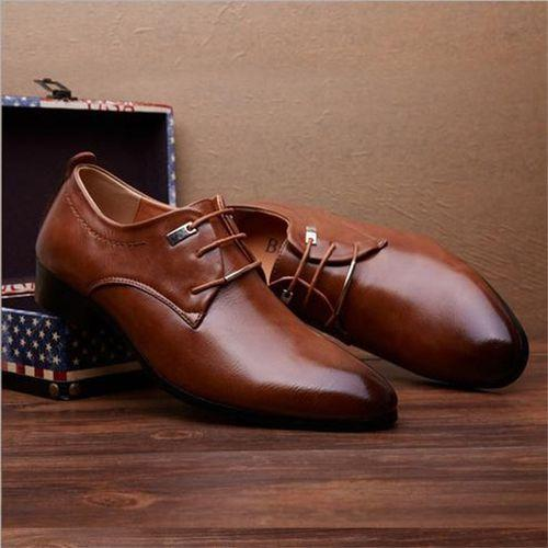 Classic Modern Formal Comfortable Leather Business Shoes for Men