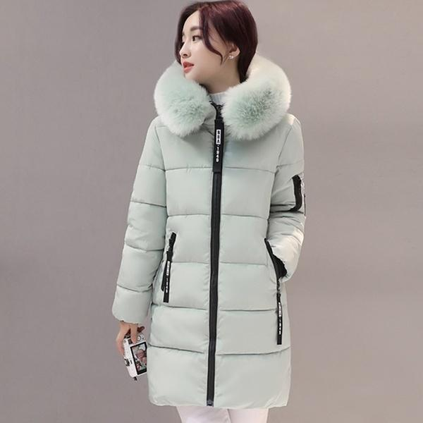 Women Fashion Winter Hooded Down Cotton-padded Jacket Warm Coats