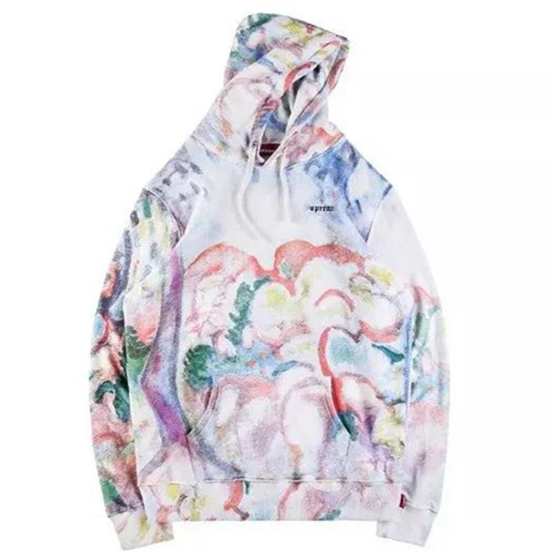 Landscape Watercolor Painted Hoodies