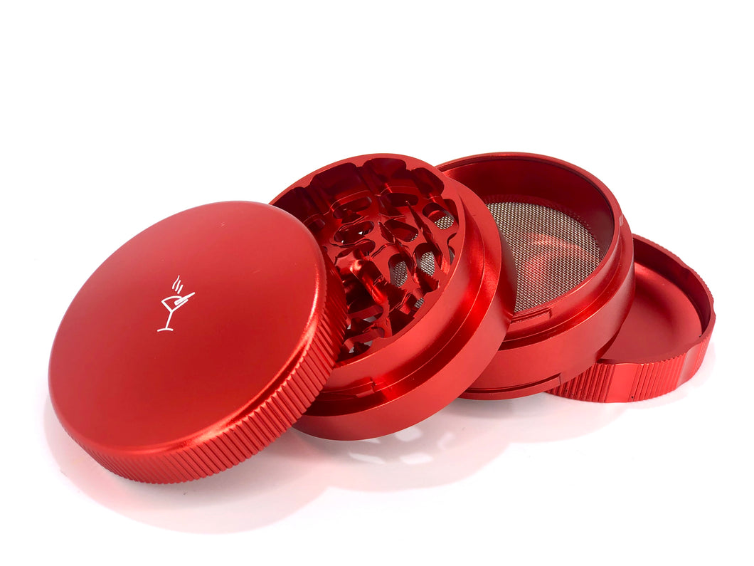 TumbleWeed® 4 Piece Herb Grinder- Red