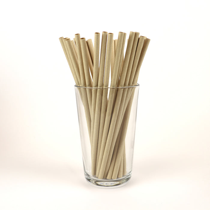 "True Kraft Standard Straws, Unwrapped - 7.75"" (Case of 15,840)"