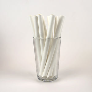 "White Bubble Tea Straws, Wrapped - 7.75"" (Box of 95)"