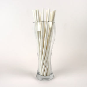 "10.25"" White Pape Milkshake Straws, Wrapped - Case of 4,320"