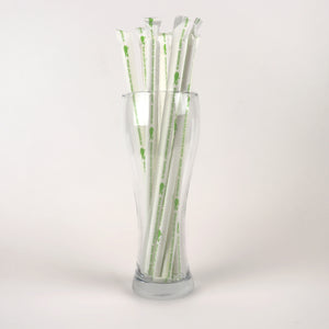 "White Milkshake Straws, Wrapped - 10.25"" (Case of 4,320)"