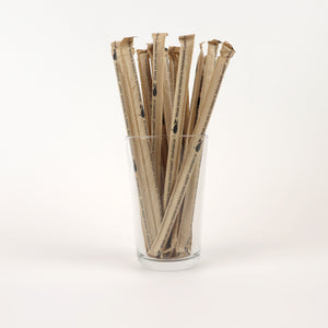 "True Kraft Standard Straws, Wrapped - 7.75"" (Case of 6,000)"
