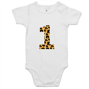 Our cute '1' onesies are a perfect unisex first birthday outfit. Our leopard design is ethically sourced and printed in Australia. It is great for a cake smash or first birthday party and perfect for a wild one or jungle theme.